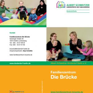 """Flyer Familienzentrum """"Die Brücke"""""""