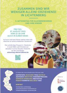 Aktionstag für Alleinerziehende in Lichtenberg 2021